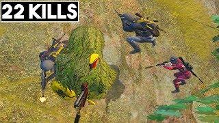 JUMPING OVER ENEMIES   22 KILLS SOLO vs SQUAD   PUBG Mobile🐼