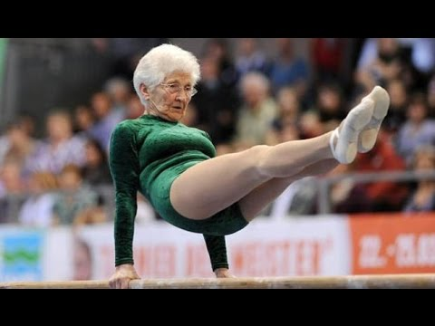 91 year old gymnast, Johanna Quaas