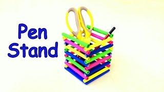 DIY- How To Make Pen Stand /pencil Holder / Desk Organiser From Paper?