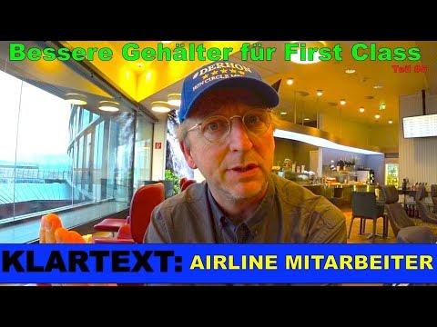 KLARTEXT: Airline Mitarbeiter #4 | Bessere Gehälter für Flugbegleiter First Class | Der HON Circle