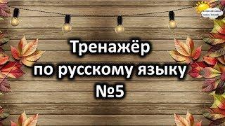 Тренажёр по русскому языку №5. Учимся играя.