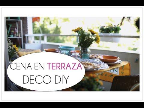 Plan cena en terraza, picoteo, decoracion y DIY