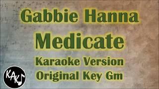 Gabbie Hanna   Medicate Karaoke Instrumental Lyrics Cover Original Key Gm