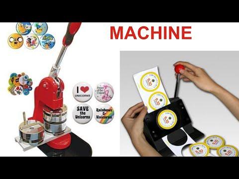 Button Badge Making Machine