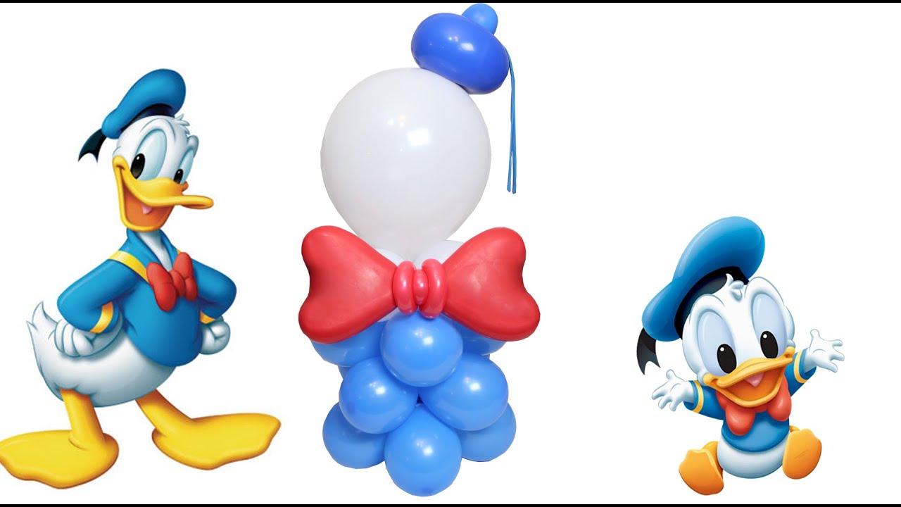 Curso de Globos Columna del alegre Donald o Centro Mesa