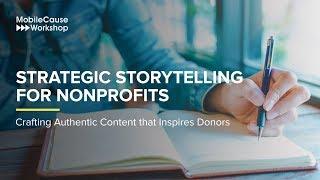Strategic Storytelling for Nonprofits - Workshop