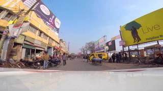 Bhagalpur, India - Driving Through the City With a GoPro