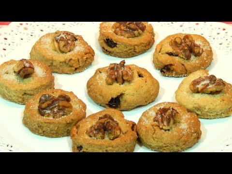 Cómo hacer galletas de anís con nueces y pasas