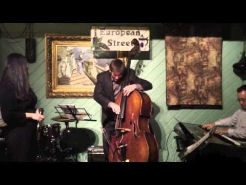 Robin Stine with the Joshua Bowlus Trio performing at European Street Cafe in Jacksonville Florida (November 2011)