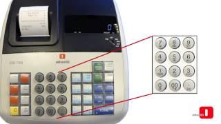 cajasregistradoras.com  -  OLIVETTI ECR 7700 - Programación caja registradora Olivetti ECR 7700