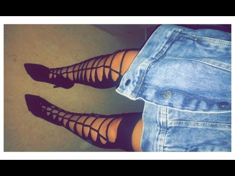 DIY ripped  Thigh High / Overknee Socks/ Socken I Marina Si