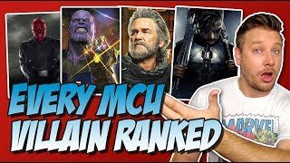 All 31 MCU Villains Ranked From Worst to Best (w/ Thanos & Ghost)
