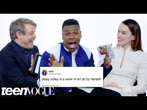 The Last Jedi Cast Competes in a Compliment Battle | Teen Vogue