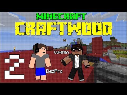 NÁVŠTĚVA OSTATNÍCH! Minecraft CRAFTWOOD #02 /wCukeMan