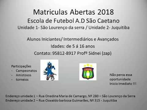 Escolinha de Futebol do São Caetano em Juquitiba