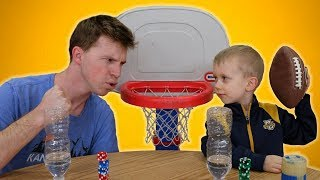 JAKE vs. 5 YEAR OLD TRICK SHOT GENIUS! Ft. That's Amazing
