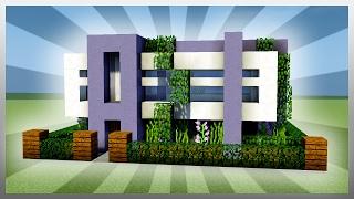 Easy 16x16 Modern House Tutorial Easy To Follow Minecraftvideos Tv