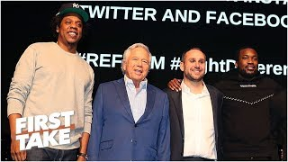 ESPN's FIRST TAKE speaks on Jay-Z, Meek Mill, Robert Kraft, Michael Rubin and others come togeth
