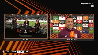 """""""What an achievement for the club!"""" Noble on West Ham's first European game at the London Stadium"""