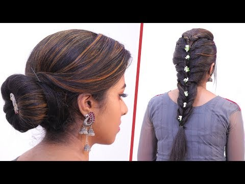 5 Minute Function Hairstyles for Girls! | Twisted Braid | Donut Bun