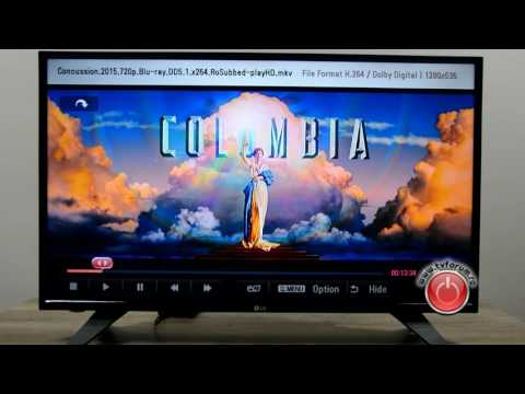 REVIEW TV LG 32LH500D - Media player test