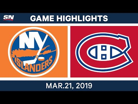 NHL Game Highlights | Islanders vs. Canadiens - March 21, 2019
