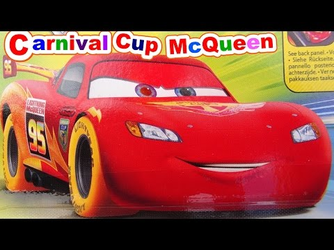 Disney Pixar Cars Unboxing Carnival Cup Lightning McQueen With Some Surprises