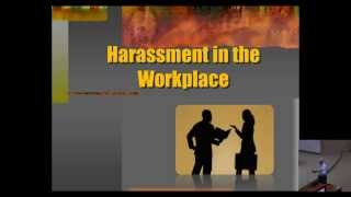 ACIP Training - Prohibited Harassment in the Workplace- 04/13/2015