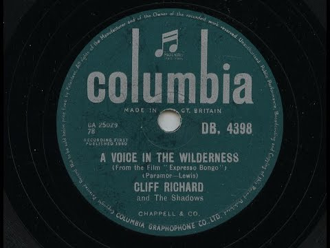 Cliff Richard ' A Voice In The Wilderness' 1960 78 rpm