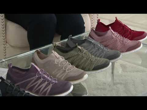 Skechers Stretch-Knit Bungee Slip-On Sneakers - Glider Tuneful on QVC