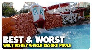 TOP 5 BEST & WORST WDW Resort Pools | Best and Worst | 11/15/17