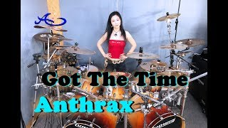 Anthrax - Got the Time drum cover by Ami Kim (#60)
