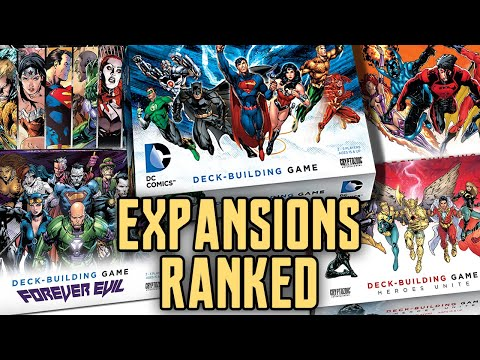 DC Comics Deck Building Game Expansions Ranked!