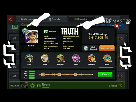 8 Ball Pool | Rafeef Unique ID + Cues + Achievements 😂 😨