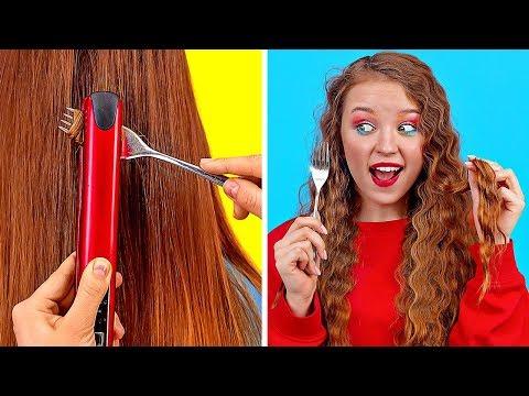 बढ़िया बालों के तरीके और हैक्स।। मजेदार और आसान बालों के आईडिया लड़कियों के लिए 123 GO! की तरफ से!