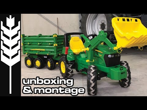John Deere 7930 Farmtrac - Unboxing - Montage - Rolly toys