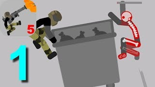 Stickman Backflip Killer 5 Parkour Mode Levels 1 2 3 4 Walkthrough Part 1 / Android Gameplay HD