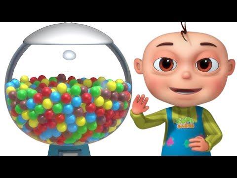 Cinco bebés usan la máquina de bolas | Rimas Infantiles Para Niños | Videogyan Español