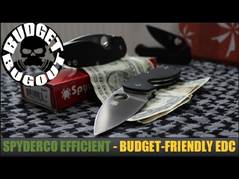 BRAND NEW: Spyderco Efficient — Budget Friendly EDC [Everyday Carry] Folding Pocket Knife Review