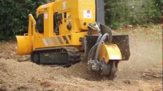 Predator 50 Tree Stump Grinder Demonstration