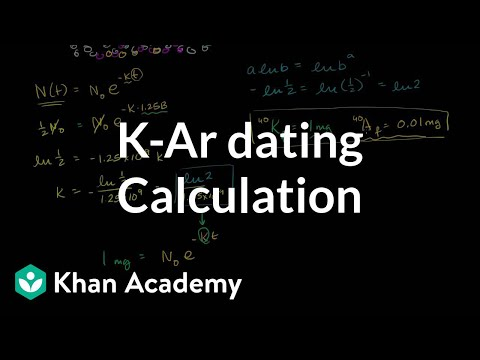 Carbon dating formula derivations