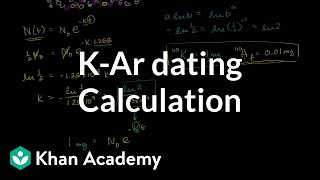 K-Ar Dating Calculation