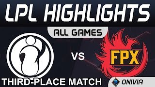 IG vs FPX ALL GAMES Highlights Third Place Match LPL Spring Playoffs 2020 Invictus Gaming vs FunPlus