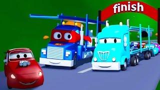 Siêu xe Carl và tàu chở ô tô thành phố xe | Phim hoạt hình về xe dành cho thiếu nhi