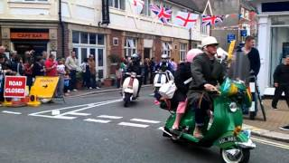 preview picture of video 'Lambretta Day Ride Out. Newport, Isle of Wight  03/06/2012'