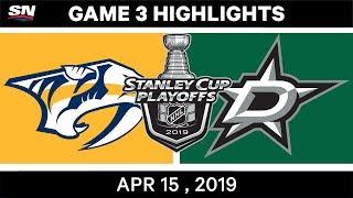 NHL Highlights   Predators vs Stars, Game 3 – April 15, 2019