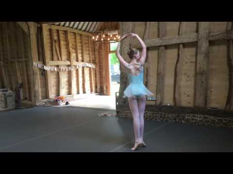 Beatrice 13 year old is rehearsing Summer Fairy from Cinderella by Frederick Ashton.