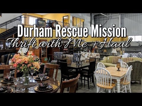 Thrift Shopping with Me & Home Decor Haul-Durham Rescue Mission-Project Thrift 52-Week 8