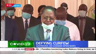 Governor Wambora faults Embu residents for failing to observe MoH guidelines