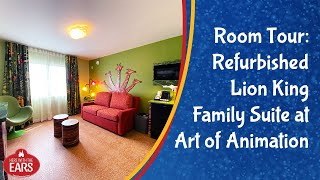 Art Of Animation - Newly Remodeled Lion King Family Suite - Room Tour